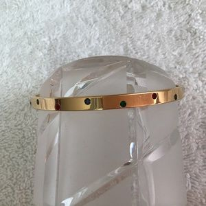Swarovski bangle with three colour crystals